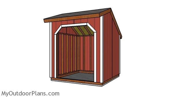 8x8 Loafing Shed Plans