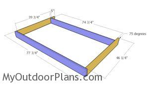 Building the bed swing frame