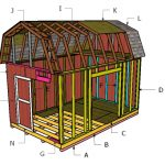 10×16 Barn Shed Roof with Loft Plans