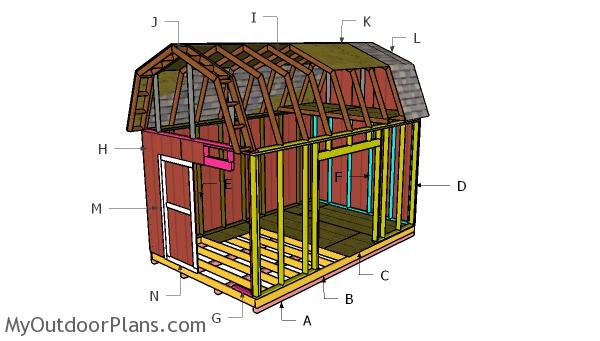 10x16 Barn Shed Roof with Loft Plans