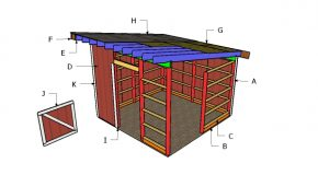 12×12 One Horse Barn Roof Plans