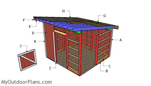 12x12 One Horse Barn Plans | MyOutdoorPlans | Free ...