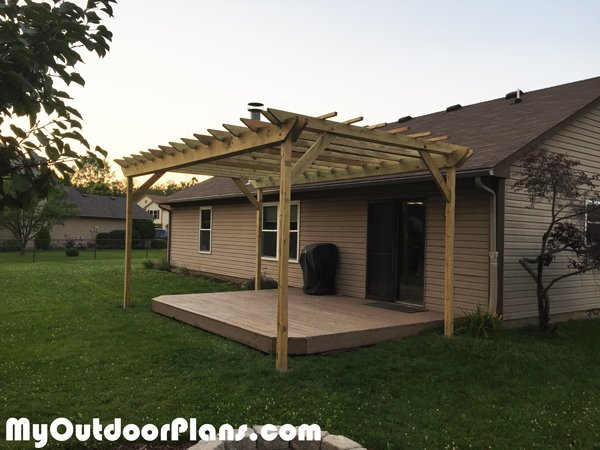 Diy 12x18 Pergola Myoutdoorplans Free Woodworking
