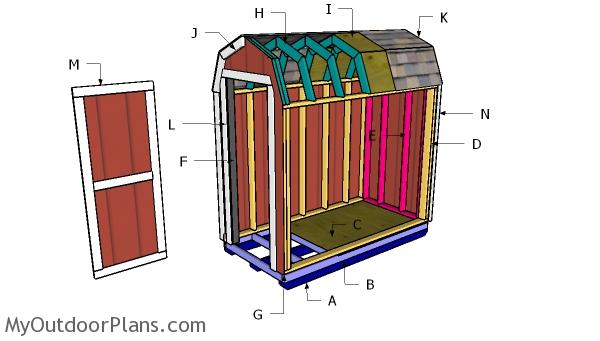 4x8 Barn Shed - PART 2