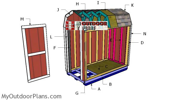 Building-a-4x8-barn-shed