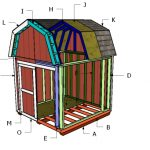 8×8 Gambrel Shed Roof Plans