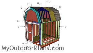Building a 8x8 gambrel shed