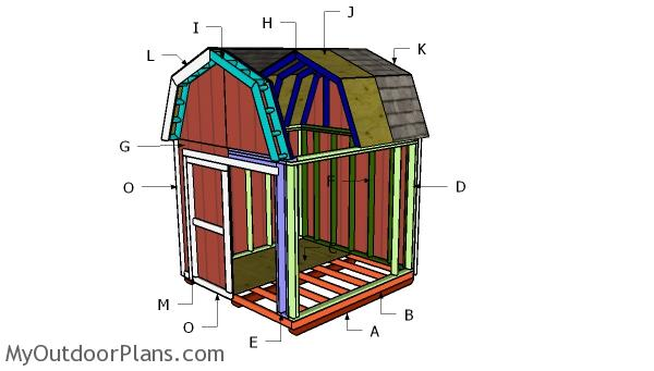 Building a 8x8 gambrel shed