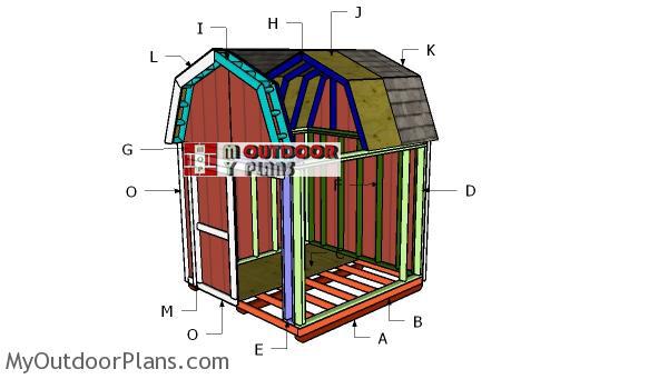 Building-a-8x8-gambrel-shed