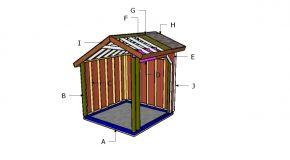 8×8 Loafing Shed Saltbox Roof Plans