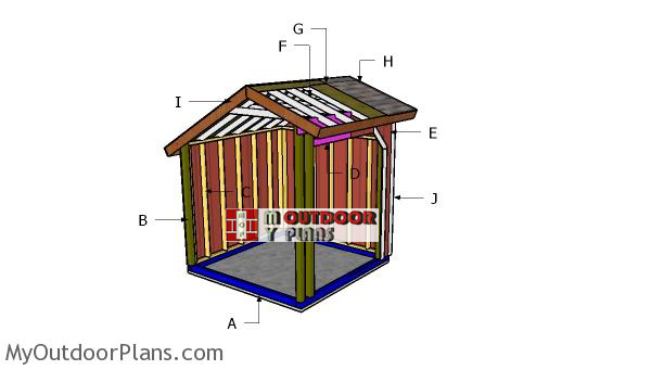 Building-a-8x8-loafing-shed-saltbox