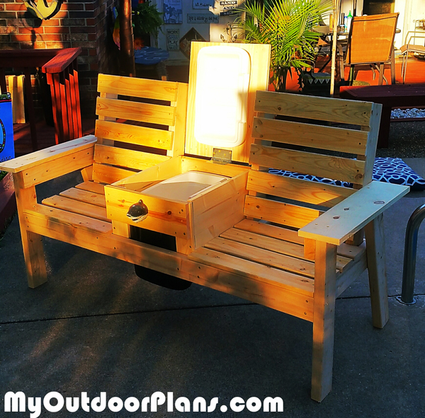 Diy Garden Bench With Cooler Myoutdoorplans Free
