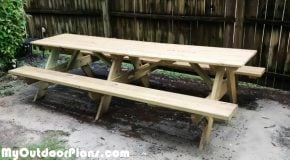 DIY 10′ Picnic Table