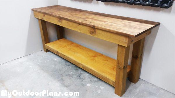 Diy 4x4 Leg Workbench Myoutdoorplans Free Woodworking