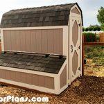 DIY 4×8 Barn Chicken Coop