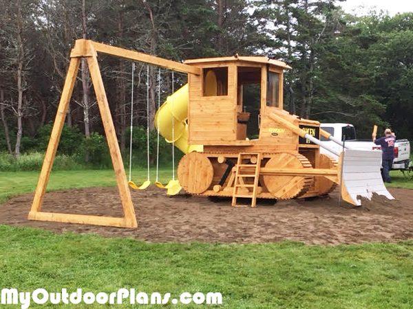 DIY Bulldozer Playset   MyOutdoorPlans   Free Woodworking ...