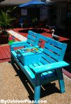 DIY Garden Bench with Cooler