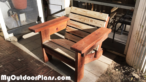 DIY Recycled Wood Adirondack Chair