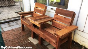 DIY Simple Double Chair Bench