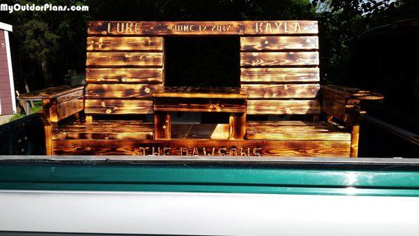 Diy Wedding Double Chair Bench With Table Myoutdoorplans