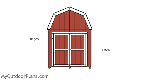 8x8 Gambrel Shed Doors Plans