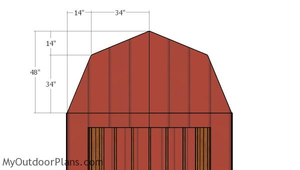 Front and back gambrel end panels