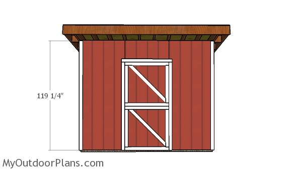 12x12 One Horse Barn Door Plans