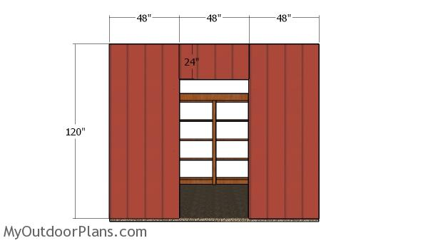 Front wall siding