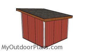 One horse Shed Plans - Back view