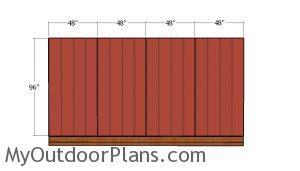 Plain side wall siding