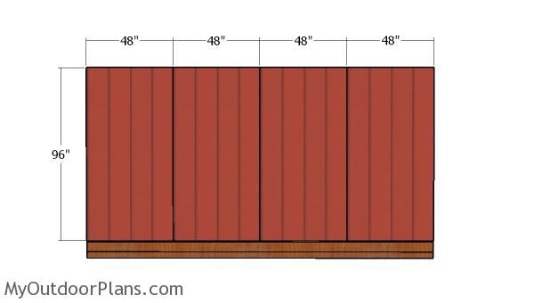 Plain side wall siding