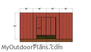Side wall with door panels