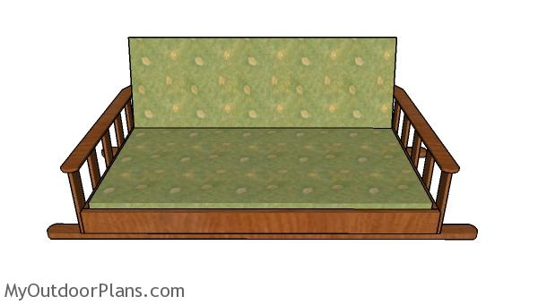 Swing Bed Plans - front view