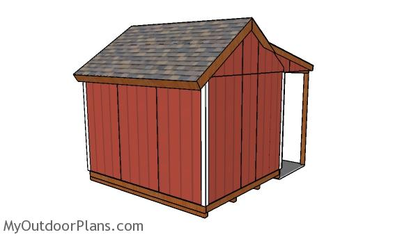 10x12 Shed With Side Porch Plans Myoutdoorplans Free Woodworking