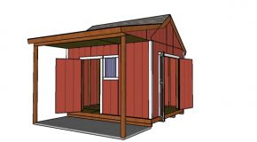 10×12 Shed with Side Porch Plans