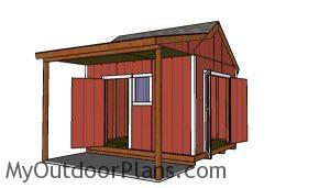 10x12 shed with side porch plans