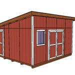 14×16 Lean to Shed Plans