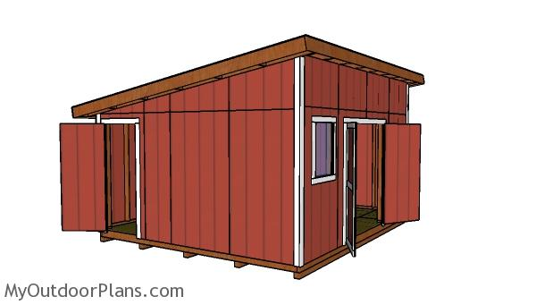 14x16 Lean to Shed Plans Free