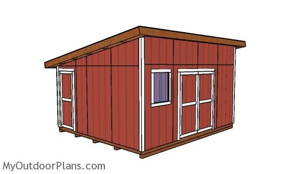 14x16 Lean to Shed Plans