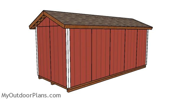 8x20 Shed Plans - Back view