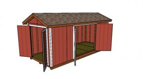 8×20 Gable Shed Plans