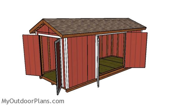 8x20 Gable Shed Plans