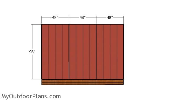 Back wall siding