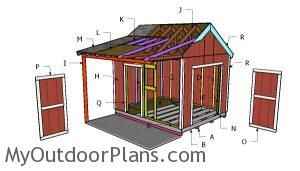 Building a 10x12 shed with side porch