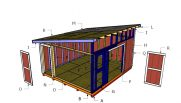 14×16 Lean to Shed Roof Plans