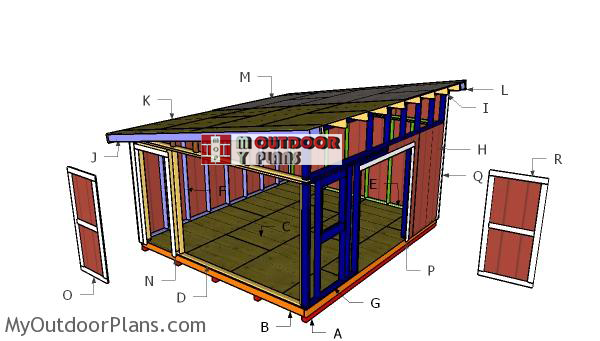 Building-a-14x16-lean-to-shed