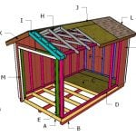 8×14 Gable Shed Roof Plans