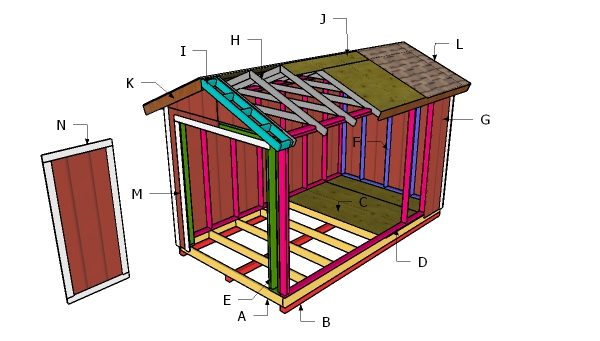 8x14 Gable Shed Roof Plans Myoutdoorplans Free