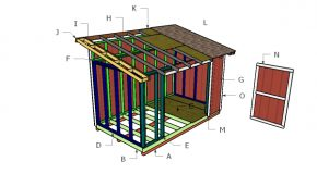 8×14 Lean to Shed Roof Plans