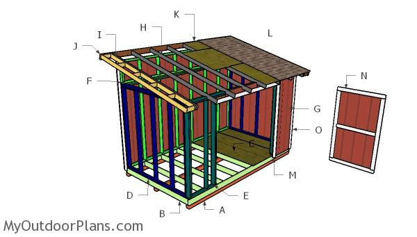 8x14 Lean to Shed Roof Plans